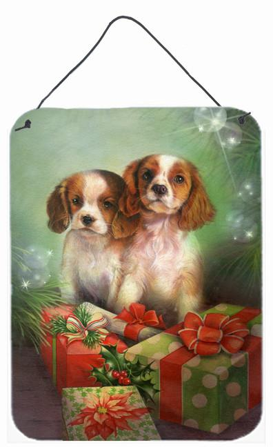 Cavalier Spaniels and Christmas Presents Wall or Door Hanging Prints SDSQ0303DS1216 by Caroline's Treasures