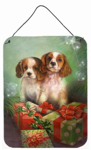Buy this Cavalier Spaniels and Christmas Presents Wall or Door Hanging Prints SDSQ0303DS1216