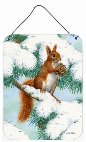 Buy this Red Squirrel with Pine Cone Wall or Door Hanging Prints ASA2033DS1216