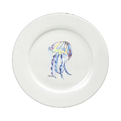 Buy this Jellyfish Round Ceramic White Salad Plate 8682-DPW