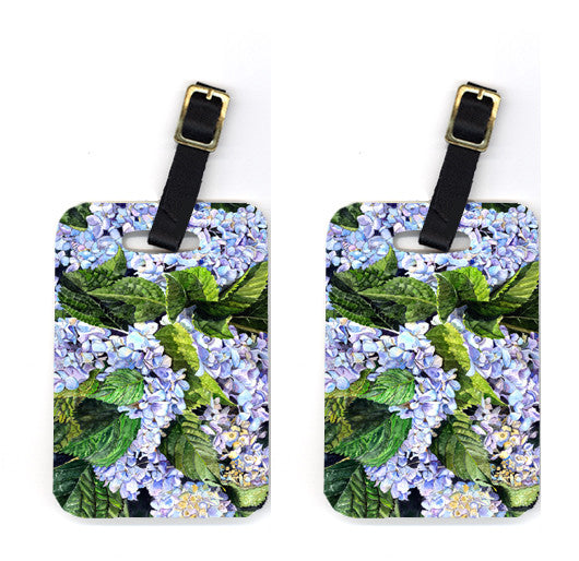 Buy this Pair of Hydrangea Luggage Tags