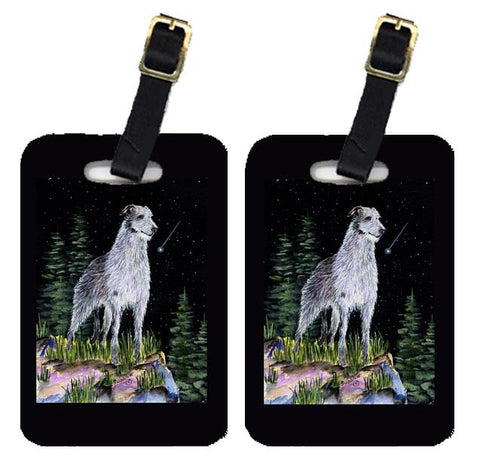 Buy this Starry Night Scottish Deerhound  Luggage Tags Pair of 2