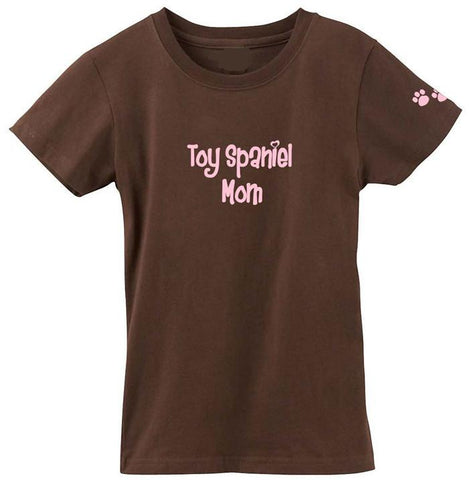 Buy this English Toy Spaniel Mom Tshirt Ladies Cut Short Sleeve Adult Small