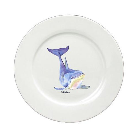 Buy this Dolphin Round Ceramic White Salad Plate 8632-DPW