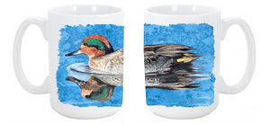 Buy this Teal Duck Dishwasher Safe Microwavable Ceramic Coffee Mug 15 ounce 8830CM15