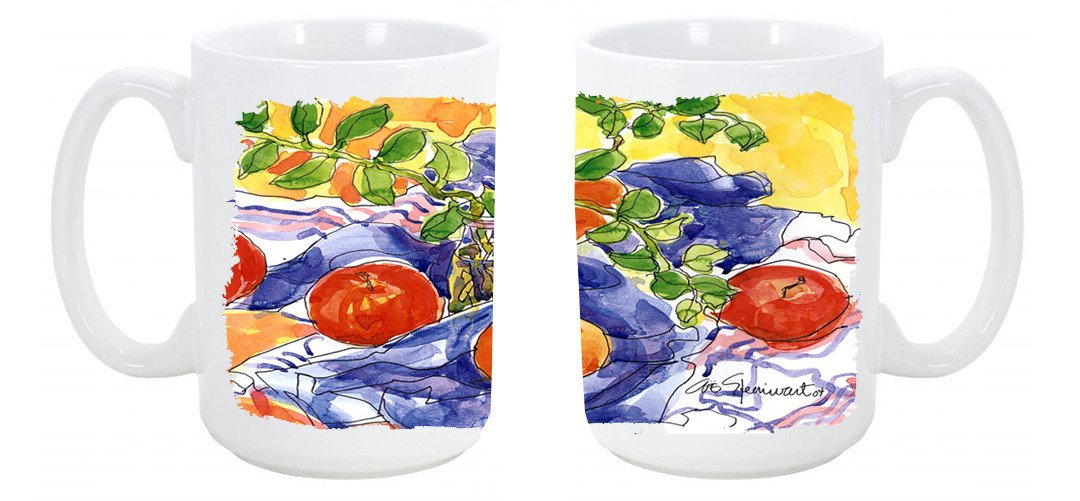 Apples Dishwasher Safe Microwavable Ceramic Coffee Mug 15 ounce 6047CM15 by Caroline's Treasures