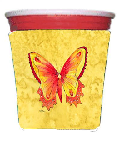 Buy this Butterfly on Yellow Red Solo Cup Beverage Insulator Hugger