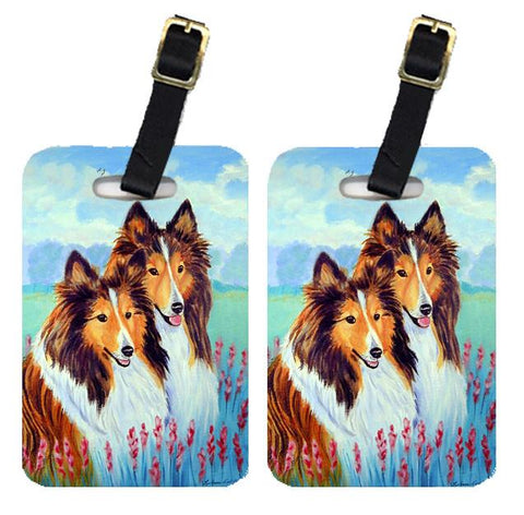 Buy this Pair of 2 Two Sable Shelties Luggage Tags