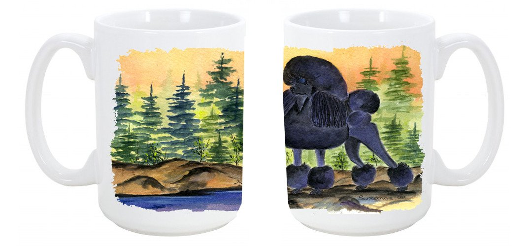 Buy this Poodle Dishwasher Safe Microwavable Ceramic Coffee Mug 15 ounce SS8196CM15