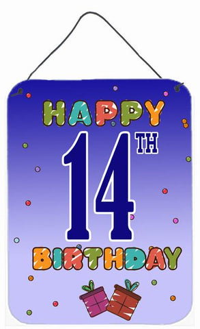 Buy this Happy 14th Birthday Wall or Door Hanging Prints CJ1105DS1216
