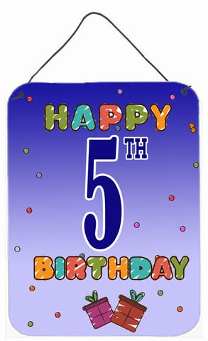 Buy this Happy 5th Birthday Wall or Door Hanging Prints CJ1096DS1216