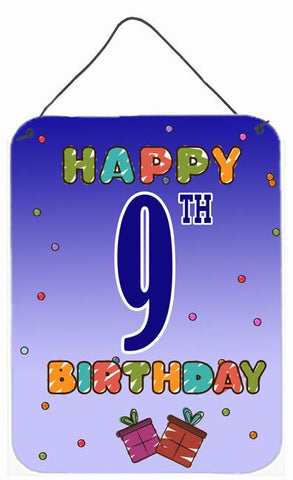 Buy this Happy 9th Birthday Wall or Door Hanging Prints CJ1100DS1216