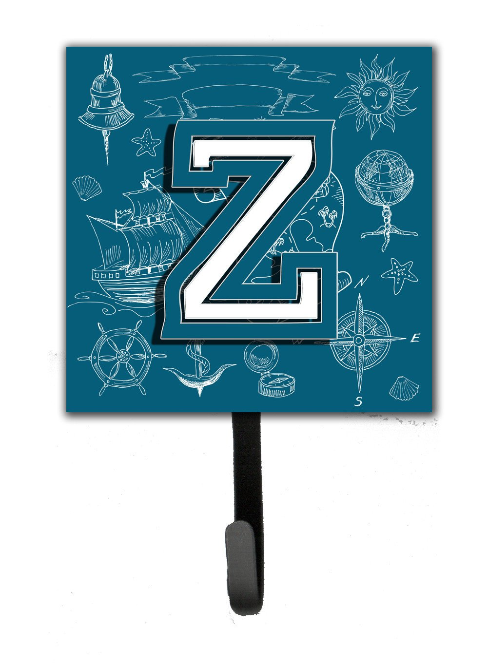 Buy this Letter Z Sea Doodles Initial Alphabet Leash or Key Holder CJ2014-ZSH4