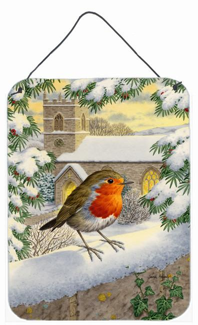 European Robin Waiting Wall or Door Hanging Prints ASA2090DS1216 by Caroline's Treasures