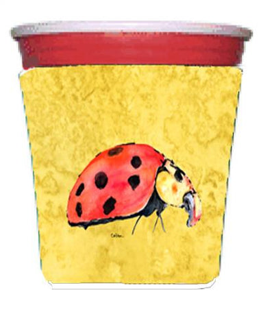Buy this Lady Bug on Yellow Red Solo Cup Beverage Insulator Hugger