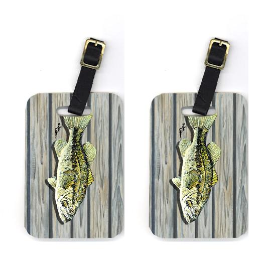 Buy this Pair of Fish Bass Small Mouth Luggage Tags