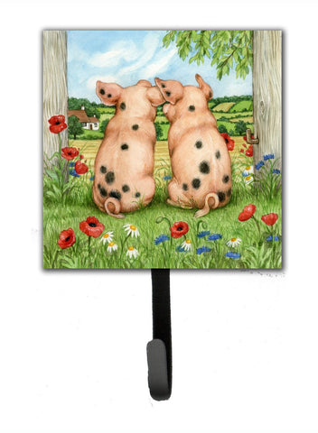 Buy this Pigs Side By Side by Debbie Cook Leash or Key Holder CDCO0354SH4