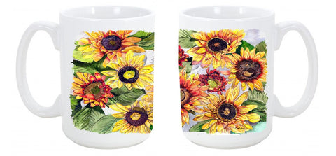 Buy this Sunflowers Dishwasher Safe Microwavable Ceramic Coffee Mug 15 ounce 8766CM15