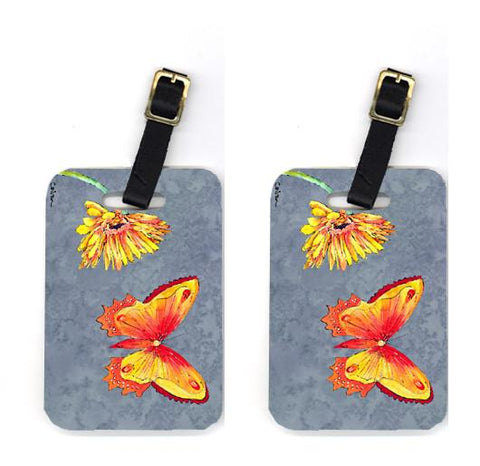 Buy this Pair of Gerber Daisy and Buttefly Luggage Tags