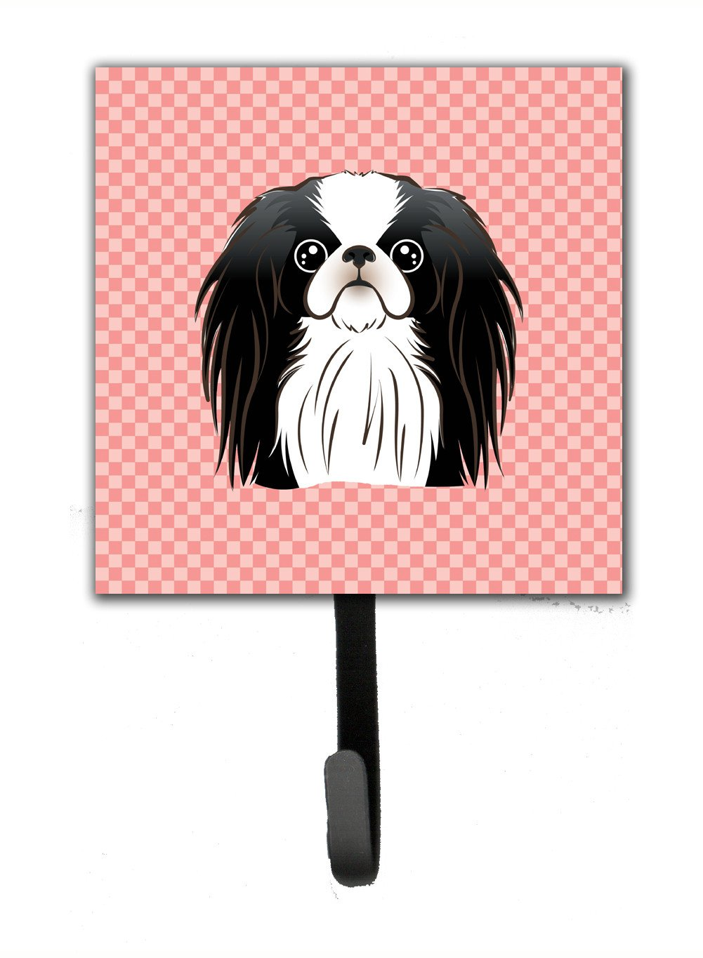 Checkerboard Pink Japanese Chin Leash or Key Holder BB1230SH4 by Caroline's Treasures