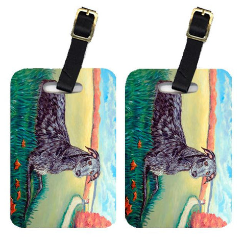 Buy this Pair of 2 Scottish Deerhound  Luggage Tags