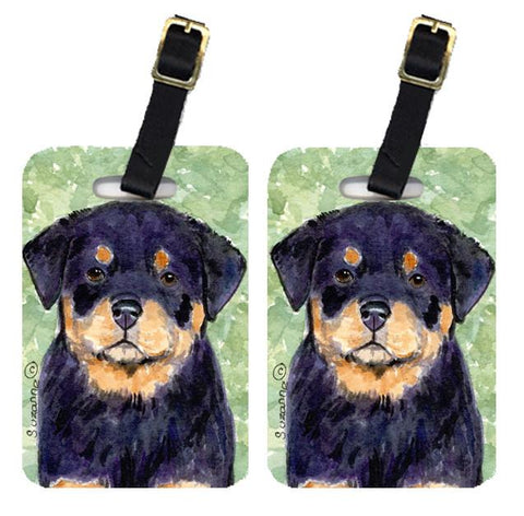 Buy this Pair of 2 Rottweiler Luggage Tags