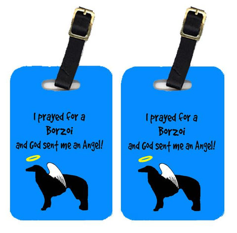 Buy this Pair of 2 Borzoi Luggage Tags