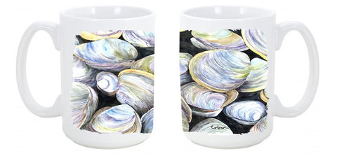 Buy this Clam Quahog Dishwasher Safe Microwavable Ceramic Coffee Mug 15 ounce 8714CM15