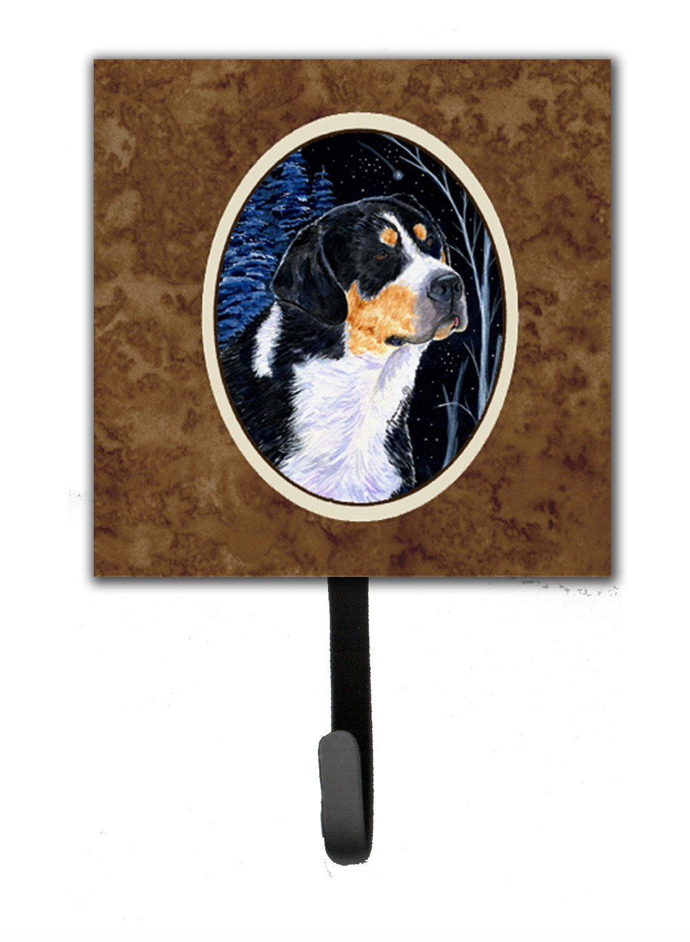 Starry Night Bernese Mountain Dog Leash Holder or Key Hook by Caroline's Treasures