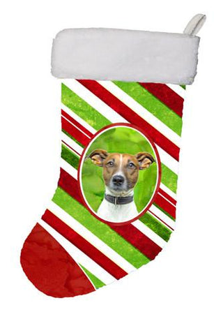 Buy this Candy Cane Holiday Christmas Jack Russell Terrier Christmas Stocking KJ1169CS