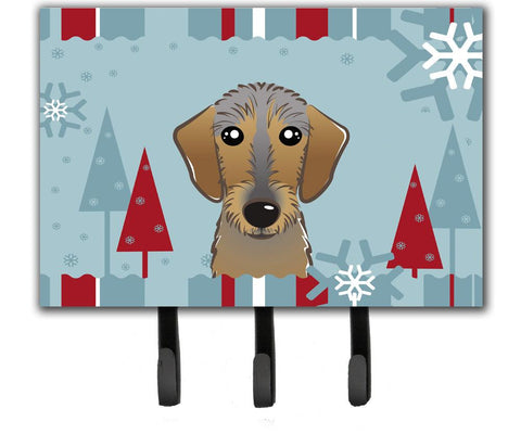 Buy this Winter Holiday Wirehaired Dachshund Leash or Key Holder BB1729TH68