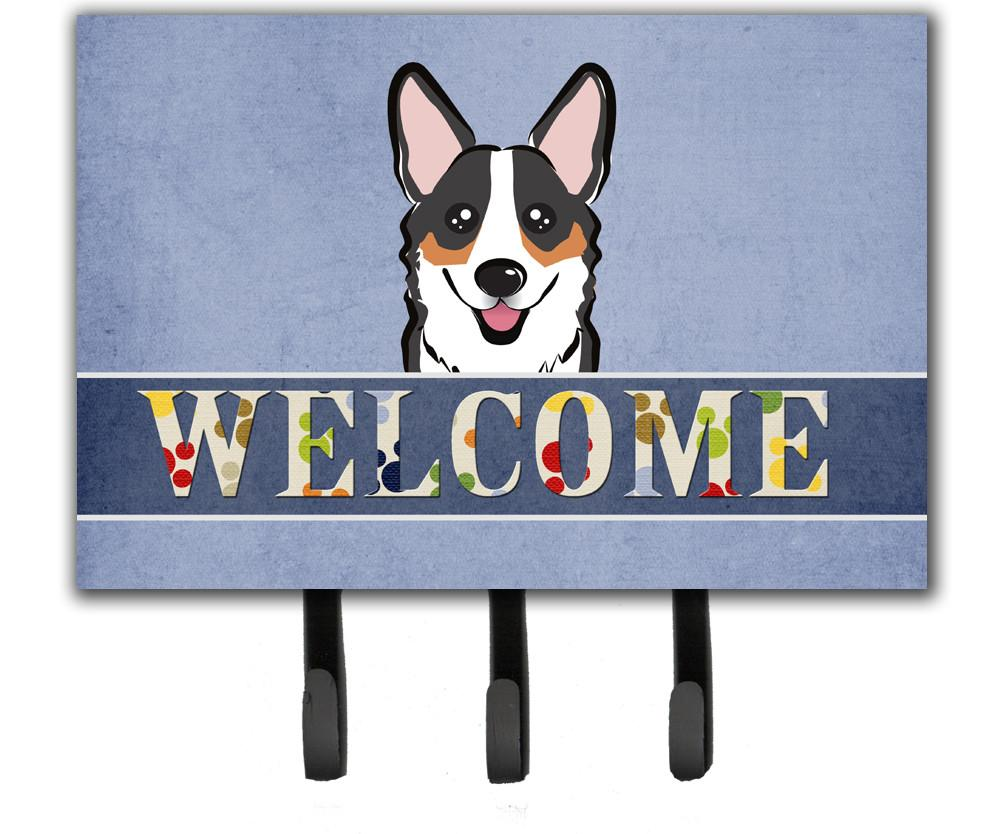 Tricolor Corgi Welcome Leash or Key Holder BB1441TH68 by Caroline's Treasures