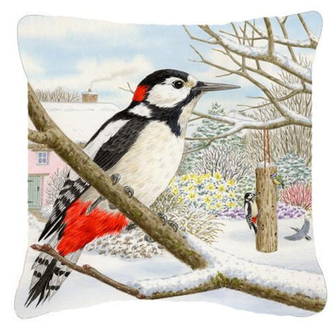 Buy this Spotted Woodpecker by Sarah Adams Canvas Decorative Pillow ASAD0701PW1414