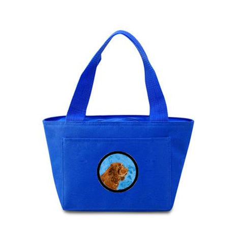 Buy this Blue Sussex Spaniel  Lunch Bag or Doggie Bag SS4786-BU