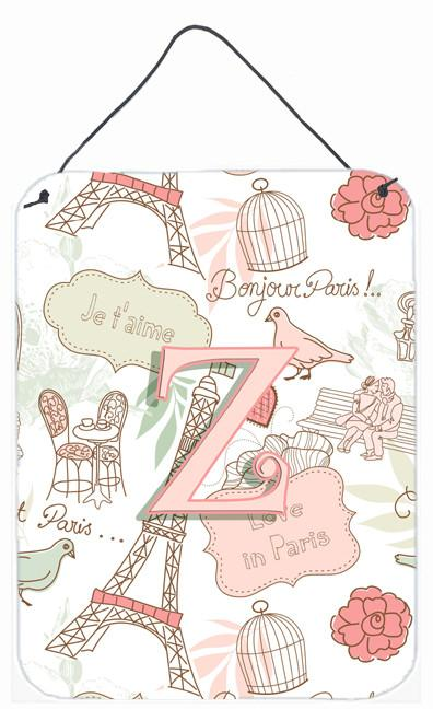 Buy this Letter Z Love in Paris Pink Wall or Door Hanging Prints CJ2002-ZDS1216