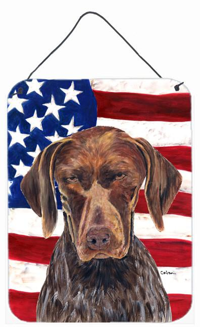 Buy this USA American Flag with German Shorthaired Pointer Wall or Door Hanging Prints
