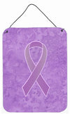 Lavender Ribbon for All Cancer Awareness Wall or Door Hanging Prints AN1200DS1216 by Caroline's Treasures