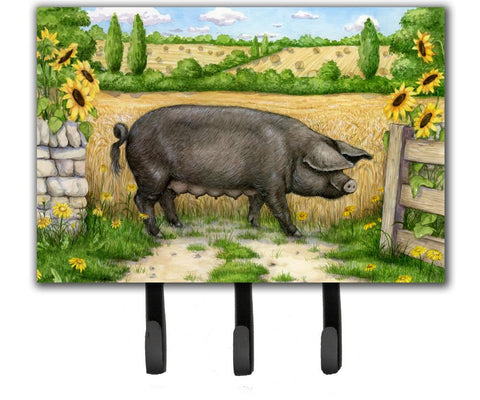 Buy this Black Pig with Sunflowers Leash or Key Holder CDCO0373TH68