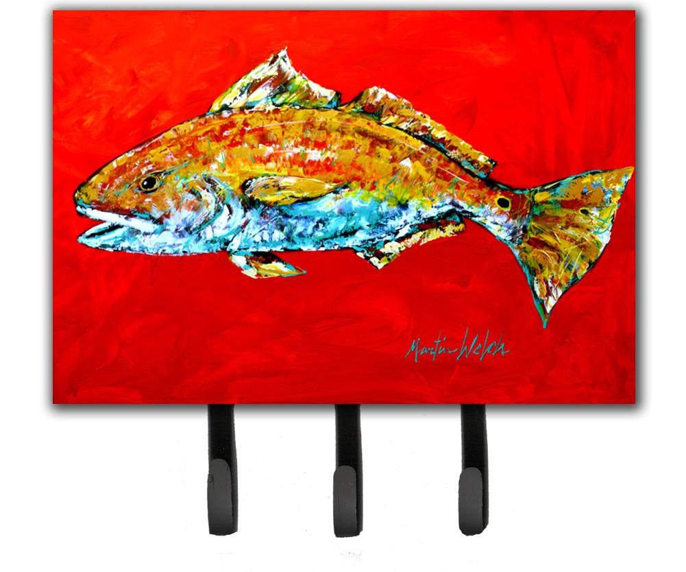 Fish - Red Fish Red Head Leash or Key Holder by Caroline's Treasures