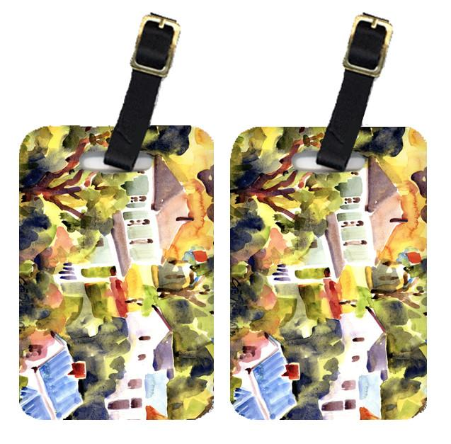 Pair of 2 Houses Luggage Tags by Caroline's Treasures