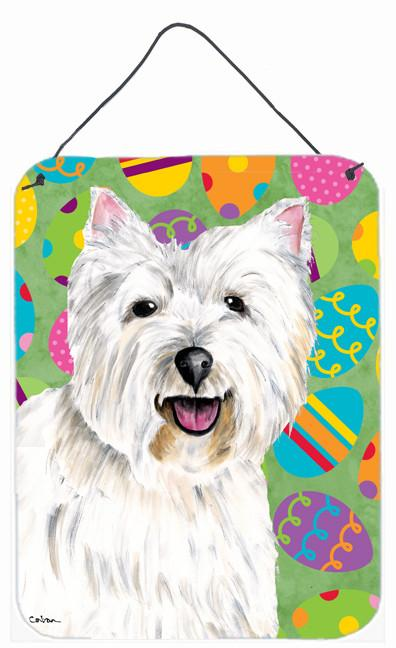 Westie Easter Eggtravaganza Aluminium Metal Wall or Door Hanging Prints by Caroline's Treasures