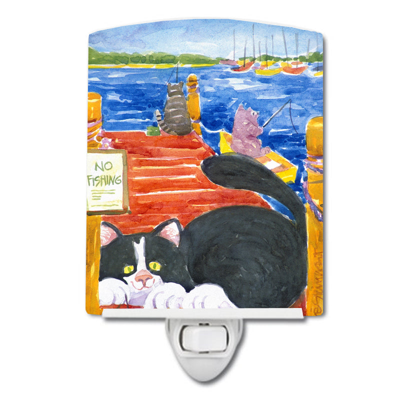 Buy this Cat Fishing from the dock Ceramic Night Light 6001CNL