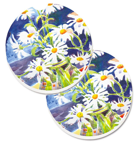 Buy this Flowers - Daisy Set of 2 Cup Holder Car Coasters 6003CARC