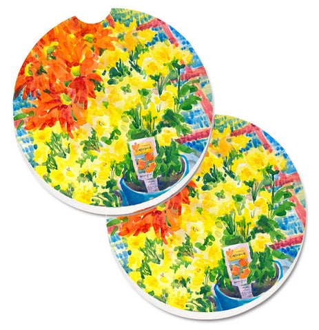 Buy this Flower - Mums Set of 2 Cup Holder Car Coasters 6005CARC