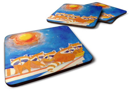 Buy this Set of 4 Raccoons on the porch  Foam Coasters