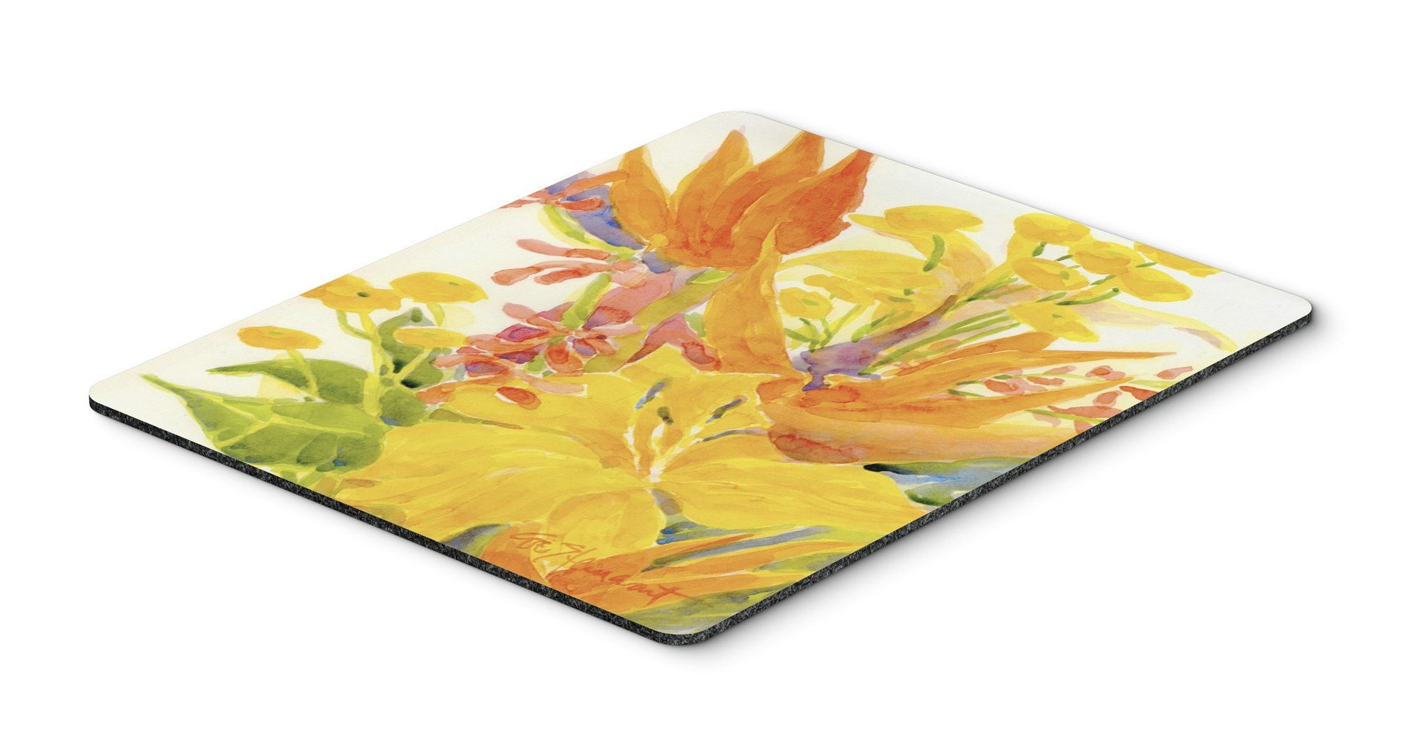 Flower - Bird of Paradise and Hibiscus  Mouse Pad, Hot Pad or Trivet by Caroline's Treasures