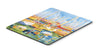 Boats at Harbour Pier  Mouse Pad, Hot Pad or Trivet by Caroline's Treasures