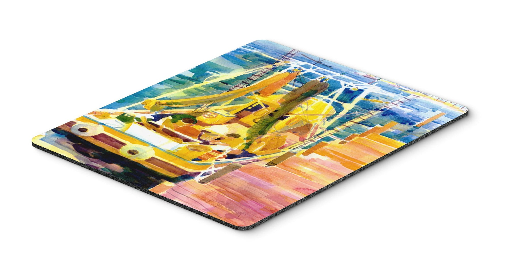 Shrimp Boats Mouse Pad, Hot Pad or Trivet by Caroline's Treasures