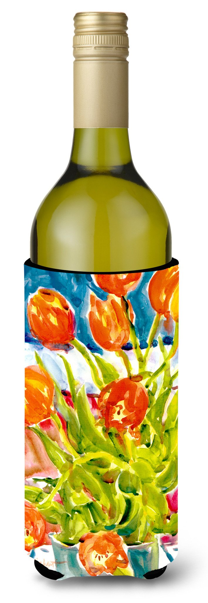 Buy this Flowers - Tulips Wine Bottle Beverage Insulator Beverage Insulator Hugger