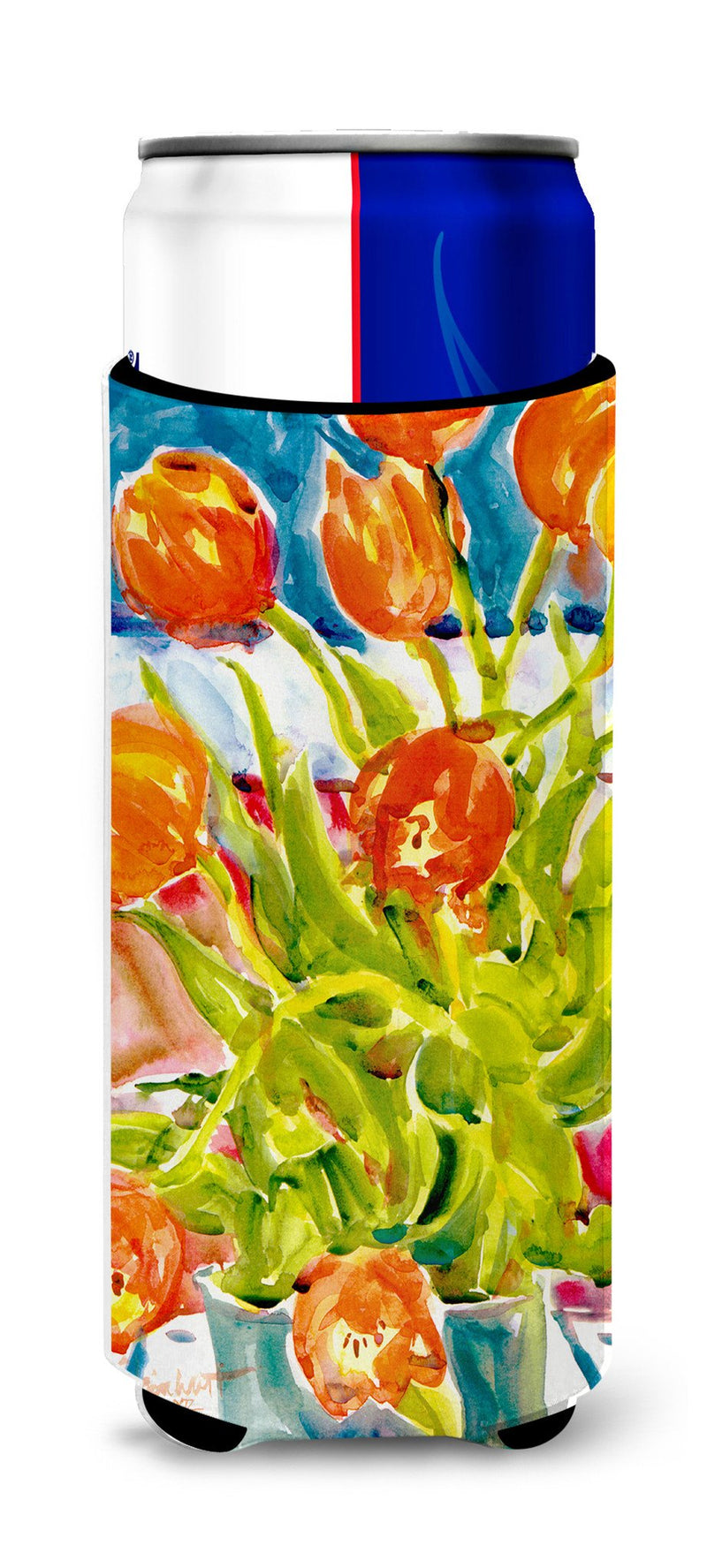 Buy this Flowers - Tulips Ultra Beverage Insulators for slim cans 6025MUK